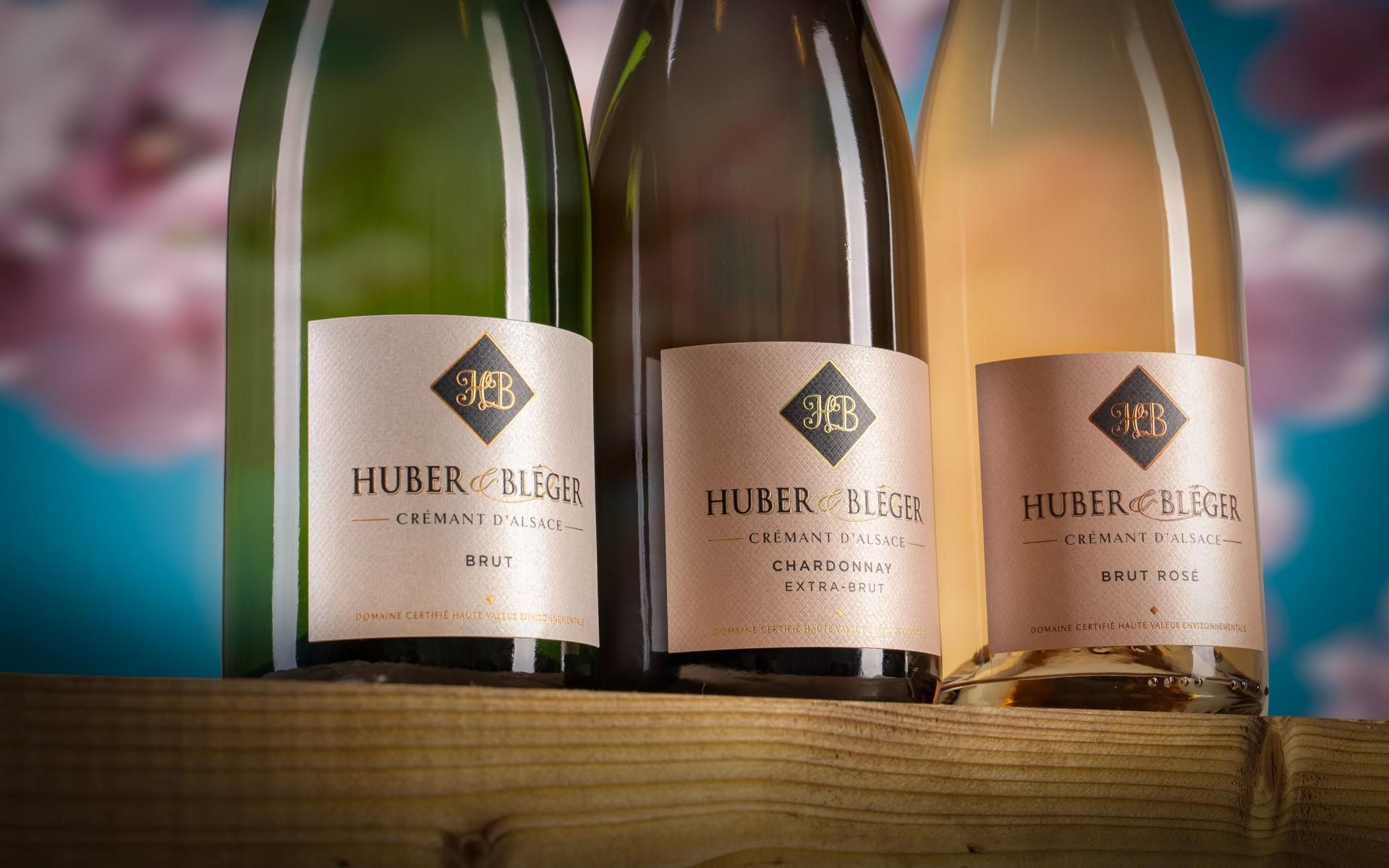 Huber & Bléger - Nos crémants bruts d'Alsace à Saint-Hippolyte près de Colmar