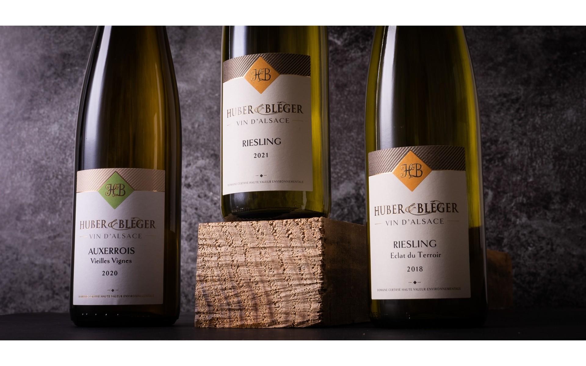 Huber & Bléger - Nos vins blancs d'Alsace secs et racés à Saint-Hippolyte près de Colmar